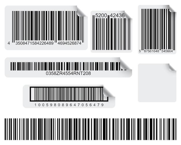 Set di etichette concettuali di codici a barre
