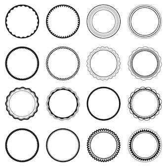 Set di etichette cornice isolata