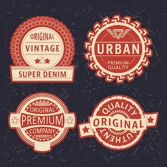Set di etichette d'epoca