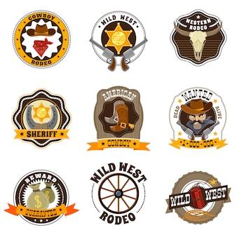 Set di etichette da cowboy