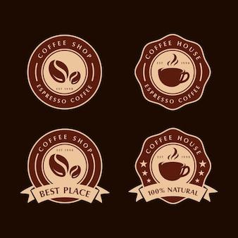 Set di etichette di caffè