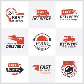 Set di etichette di consegna per lo shopping online