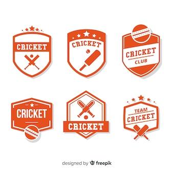 Set di etichette di cricket