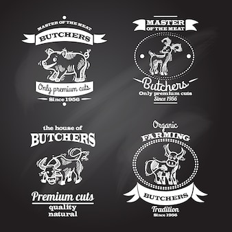 Set di etichette di fattoria