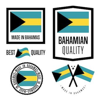Set di etichette di qualità bagamas