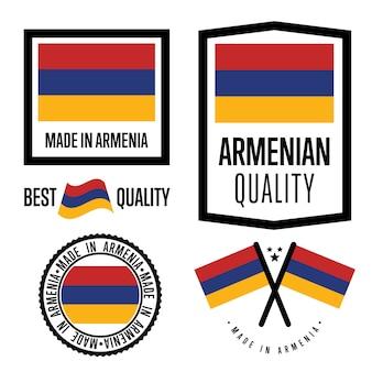 Set di etichette di qualità dell'armenia