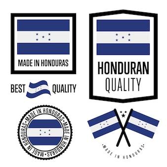 Set di etichette di qualità dell'honduras