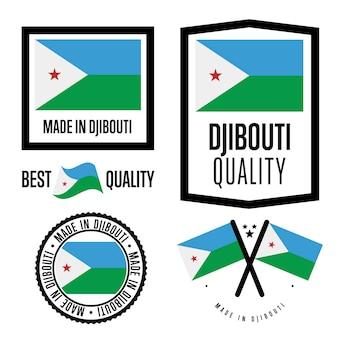 Set di etichette di qualità di gibuti