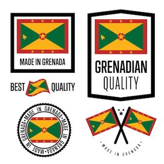 Set di etichette di qualità grenada