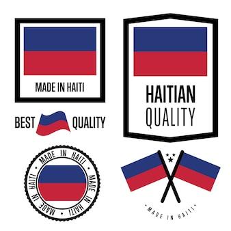 Set di etichette di qualità haiti