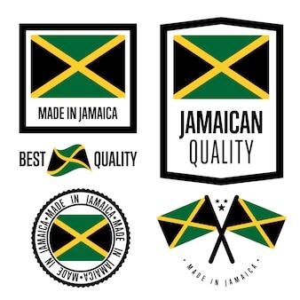 Set di etichette di qualità in giamaica