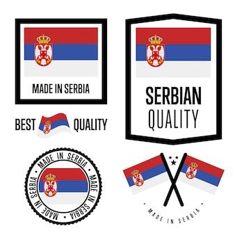 Set di etichette di qualità serbia