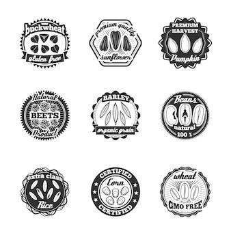 Set di etichette di semi