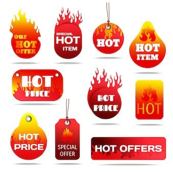 Set di etichette di vendita calda