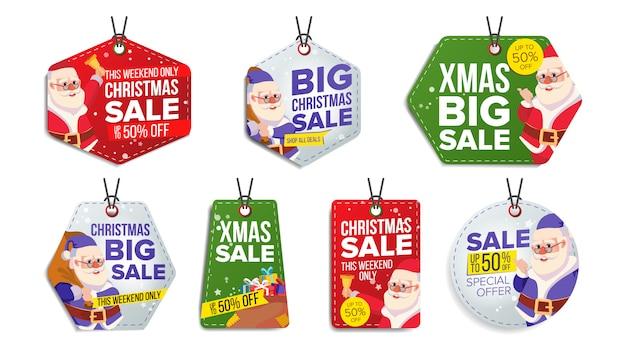 Set di etichette di vendita di natale
