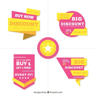 Set di etichette di vendita