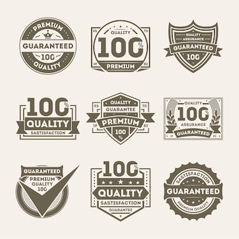 Set di etichette garantite di qualità premium