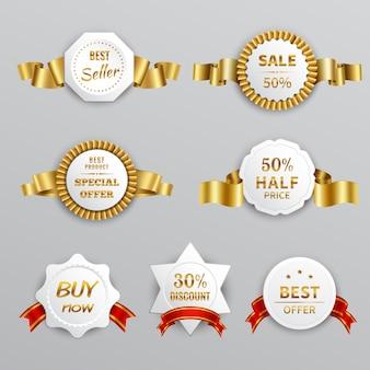 Set di etichette in vendita