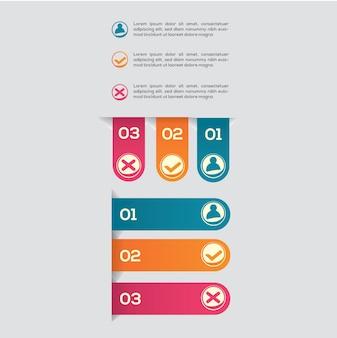 Set di etichette infographic
