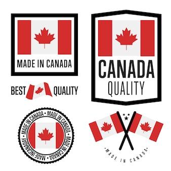 Set di etichette made in canada