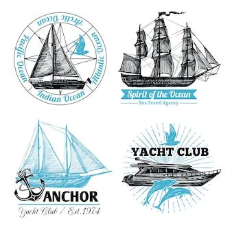Set di etichette marine