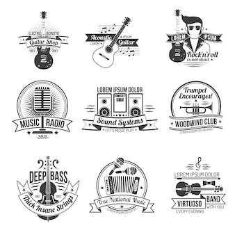 Set di etichette musicali