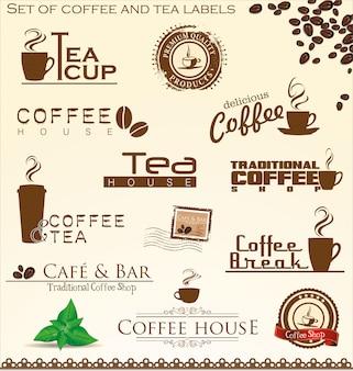 Set di etichette per caffè