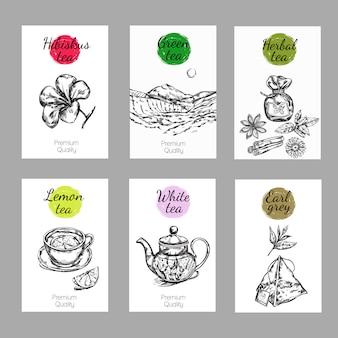 Set di etichette per tè