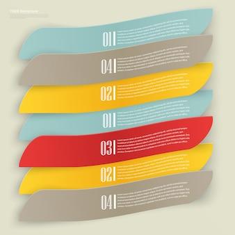 Set di etichette rettangolari vuote con acuta