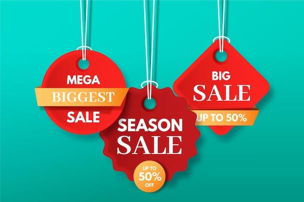 Set di etichette sospese in vendita della stagione più grande