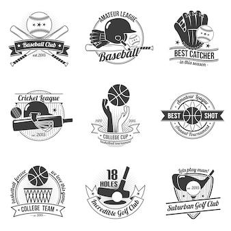 Set di etichette sportive