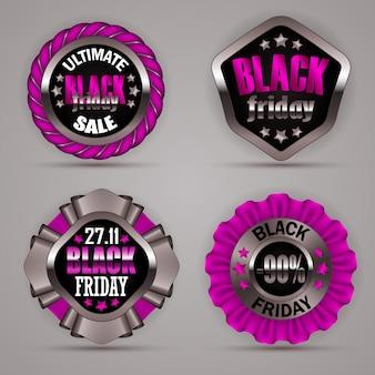 Set di etichette venerdì nero
