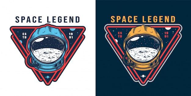 Set di etichette vintage galassia