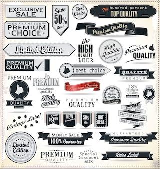 Set di etichette vintage retrò