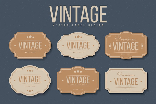 Set di etichette vintage.