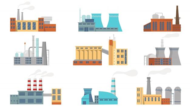 Set di fabbriche di città
