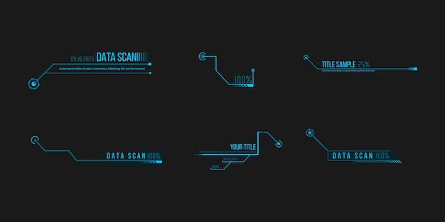 Set di fantascienza futuristica hud