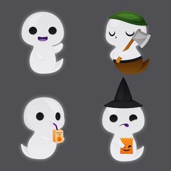 Set di fantasmi di halloween
