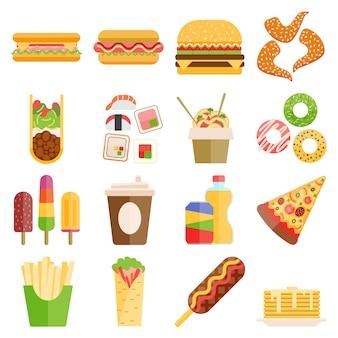 Set di fast food.
