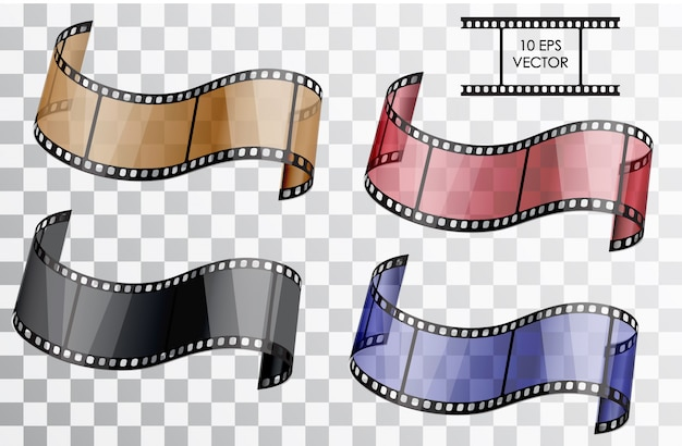 Set di film in 3d realistico