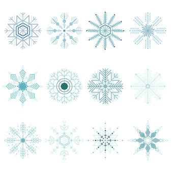 Set di fiocchi di neve