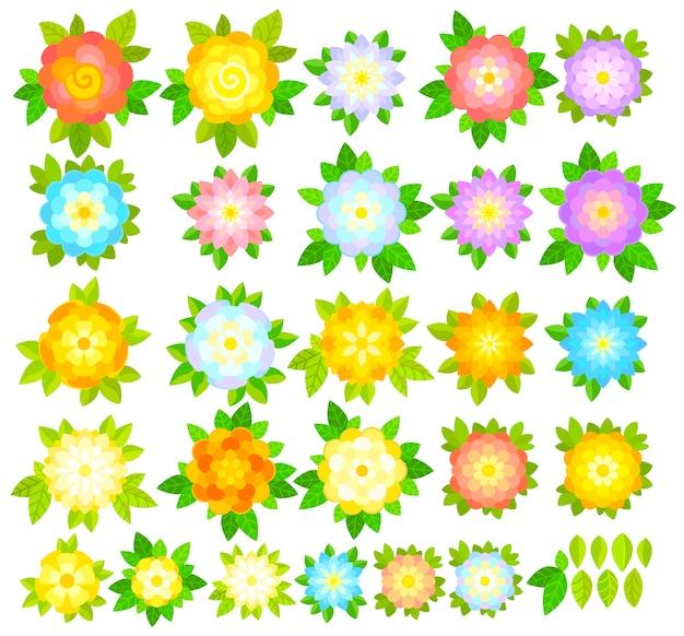 Set di fiori decorativi