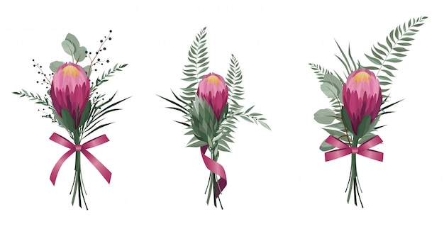Set di fiori vettoriali.