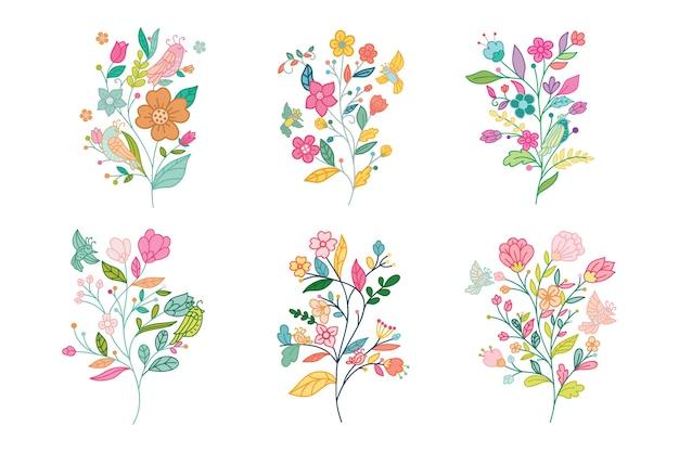 Set di flower design