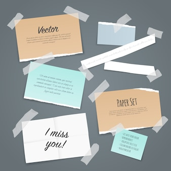 Set di fogli di carta adesiva
