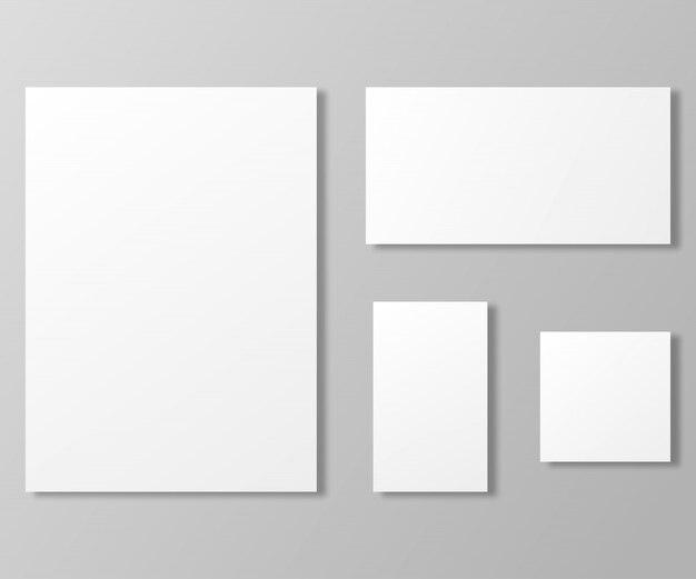 Set di fogli di carta