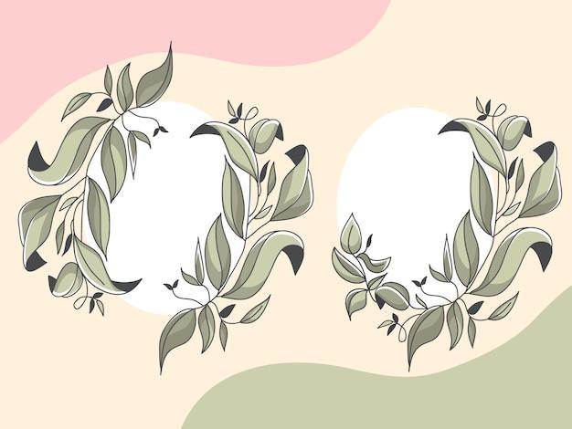Set di foglie di natura