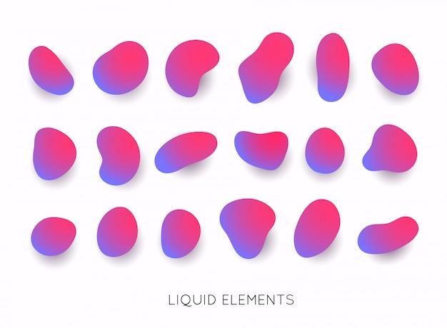 Set di forma liquida astratta.