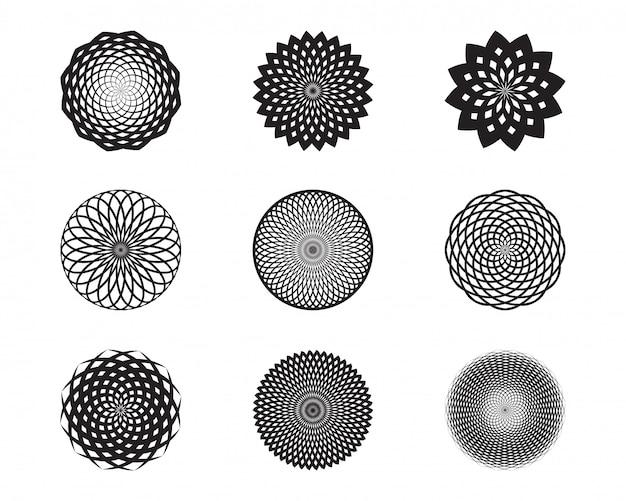 Set di forme astratte di stelle e geometrie