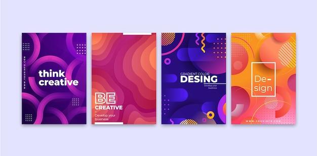 Set di forme astratte sfumate copertina